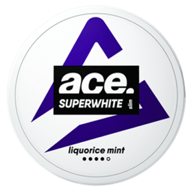 SNUS Nikotiinipadjad Ace Superwhite Liquorice Mint 9mg/G