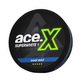 SNUS Nikotiinipadjad Ace X Superwhite Cool Mint