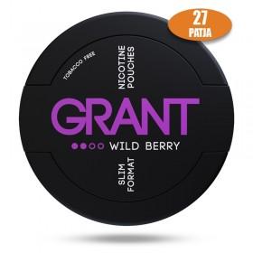 SNUS nikotiinipadjad GRANT WILD BERRY 25mg
